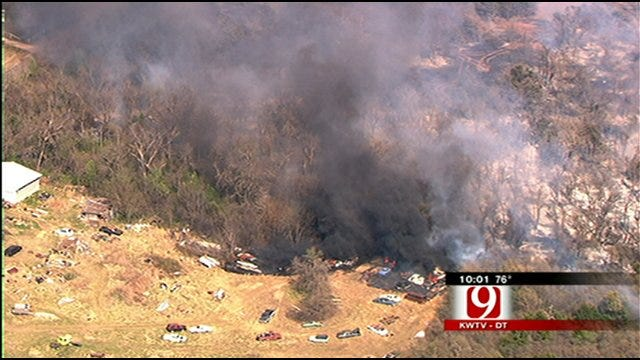 Wildfires Sparked Across Oklahoma County As Dry Conditions Continue