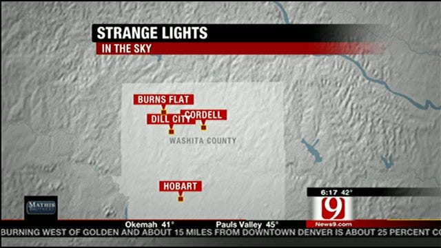 Numerous Reports Of Strange Lights In The Western Oklahoma Sky