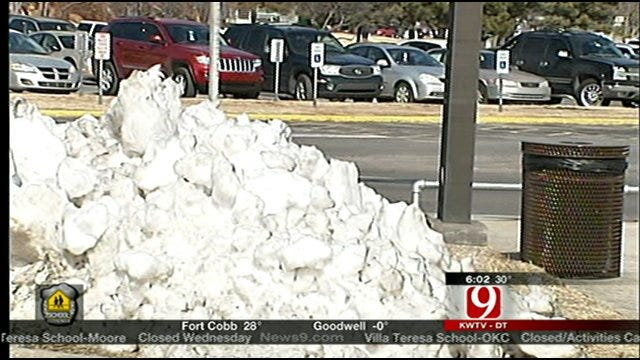 County Snow Crews Help Local Schools, Tinker AFB
