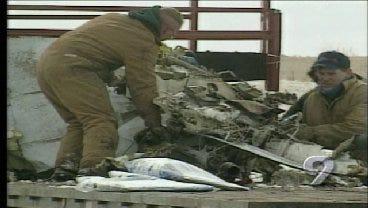 2001: Authorities Investigate OSU Plane Crash