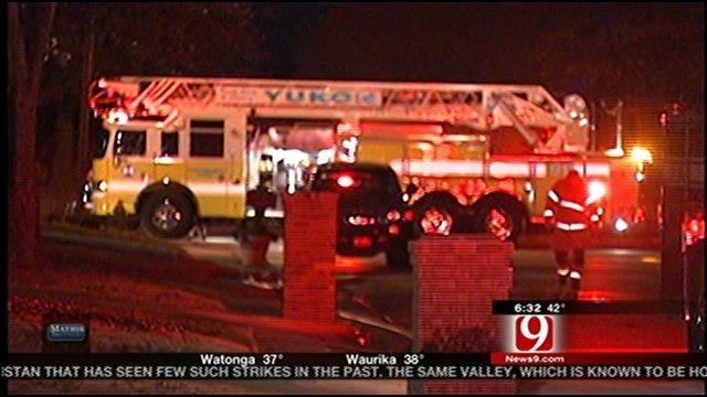 Crews Battle Yukon House Fire