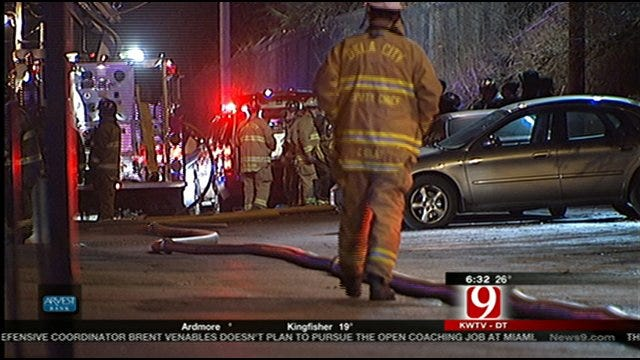 Firefighters Battle An Apartment Fire In East OKC