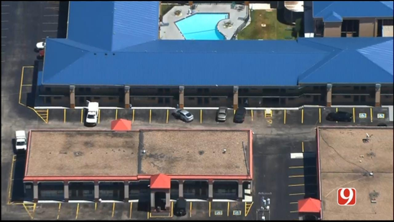 WEB EXTRA: SkyNews 9 Flies Over Homicide Investigation At NW OKC Motel