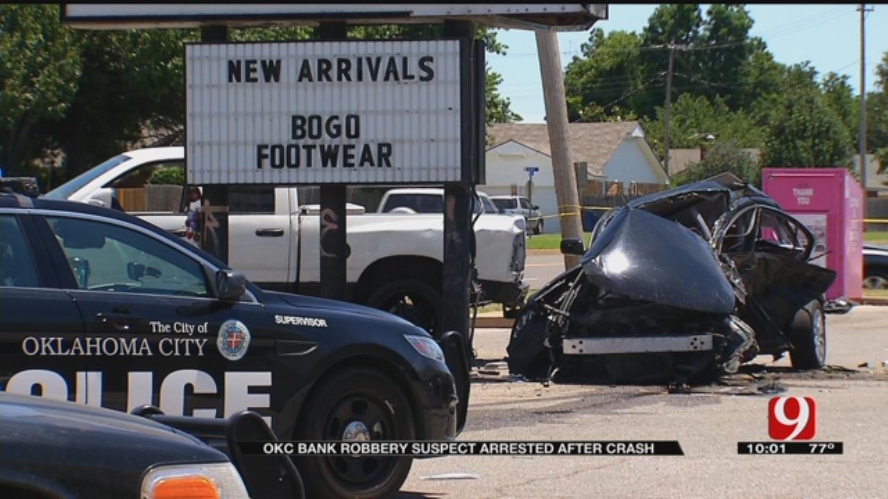 Bank Robbery Suspect In Custody