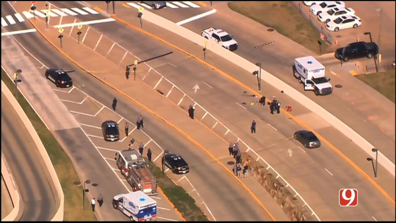 WEB EXTRA: SkyNews 9 Flies Over Shooting At Will Rogers Airport