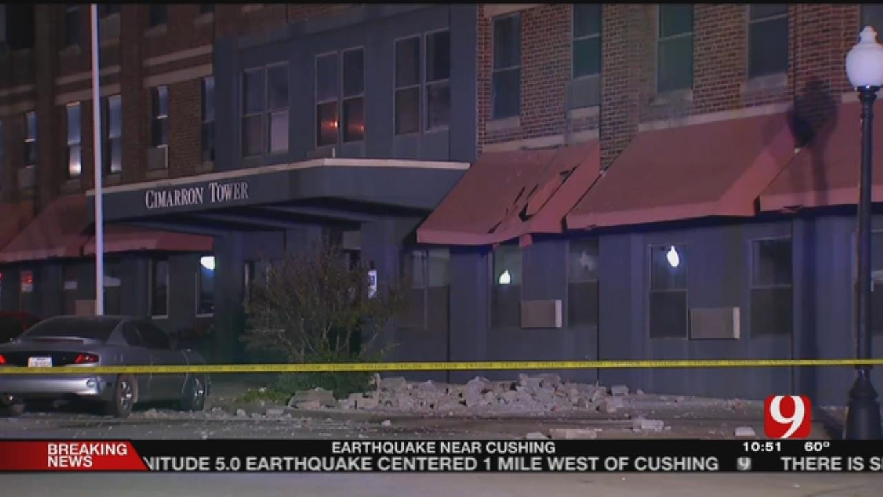 Downtown Cushing Suffers Damage After 5.0-Magnitude Earthquake