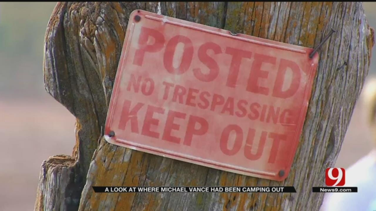 News 9 Visits Michael Vance's Campsite Near Hammon