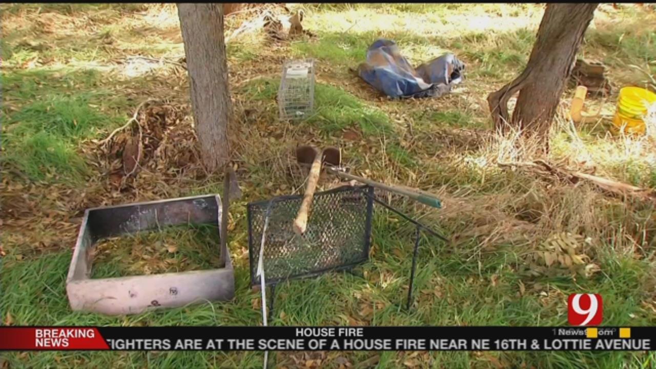 News 9 Visits Michael Vance's Camp Site