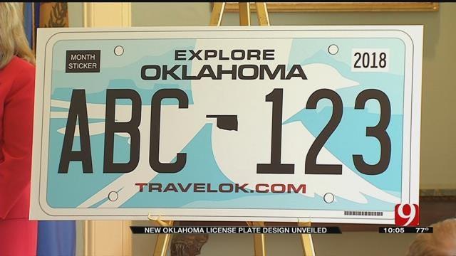 Gov. Mary Fallin Unveils New Oklahoma License Plate