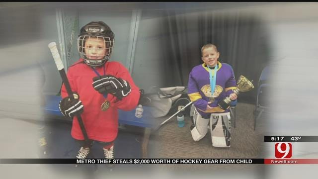 Thief Makes Off With $2K In Hockey Gear From 6-Year-Old OKC Boy