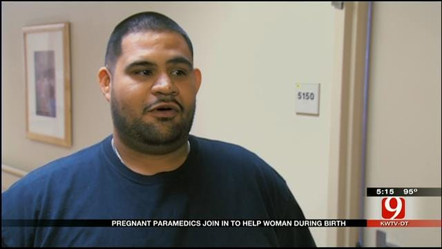 OKC Dad Delivers Baby, Pregnant Paramedic Duo Responds To Call