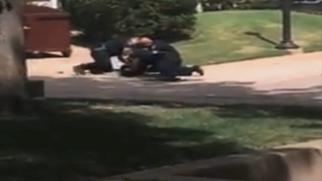 WEB EXTRA: Video Of Police Arresting Suspect On OU Campus