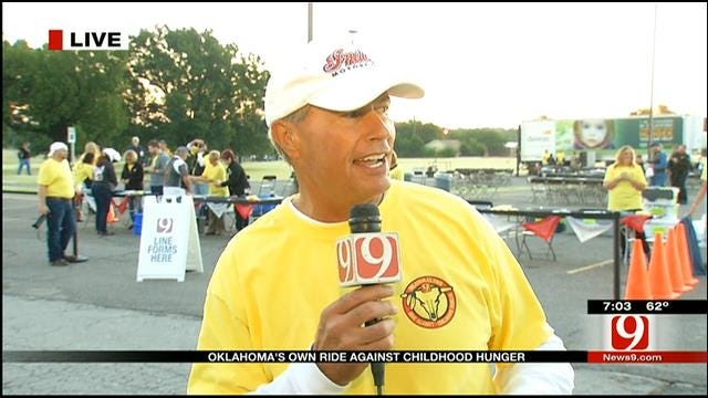 News 9's Stan Miller, Motorcyclists Ride To Benefit Childhood Hunger