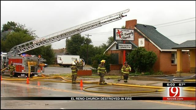 Crews Respond To Church Fire In El Reno