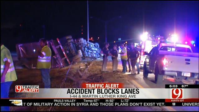 Parts Of I-44 Closed In NE OKC Due To Semi Crash