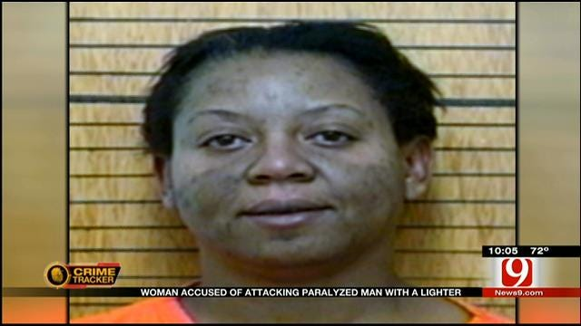 Chickasha Woman Accused Of Attacking Paralyzed Man With A Lighter