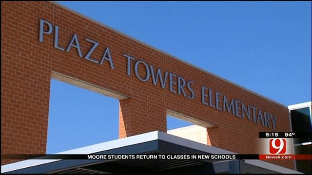 Plaza Towers Elementary Students Start The Year At New School