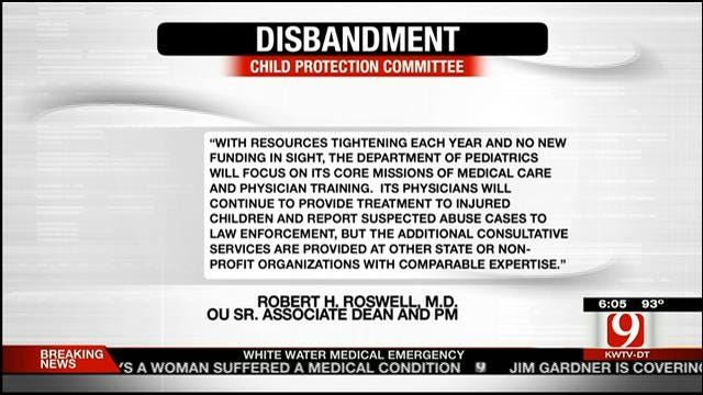 Oklahoma Child Protection Committee To Disband By December