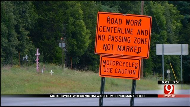 Motorcycle Wreck Victim Identified As Former Norman Police Officer