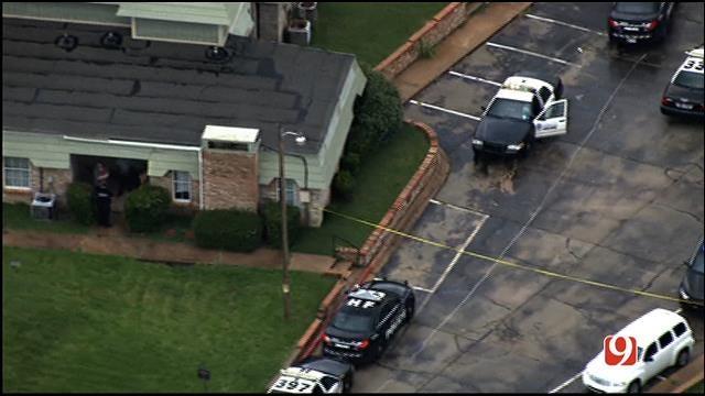 WEB EXTRA: Bob Mills SkyNews 9 HD Flies Over OKC Fatal Shooting Investigation