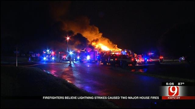 Two OKC Metro House Fires Believed To Be Sparked By Lightning