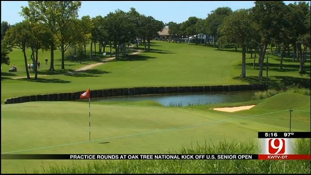 Practice Rounds Kickoff US Senior Open At Oak Tree National