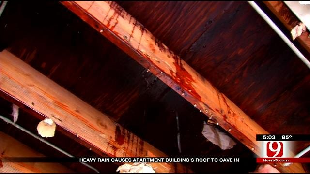 Roof Collapses On NW OKC Apartment Building