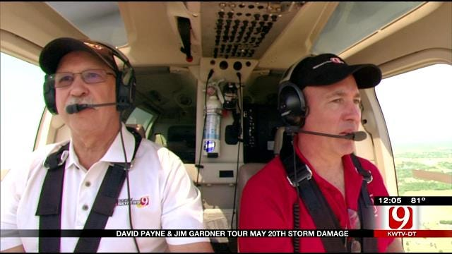 Jim Gardner, David Payne Fly Over Path Of Moore Tornado One Year Later