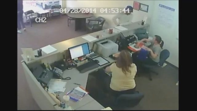 WEB EXTRA: Surveillance Video Of NW OKC Business Robbery