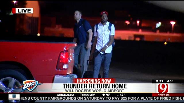 Fans Welcome OKC Thunder Players Home