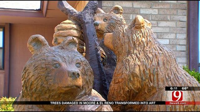 Trees Damaged In Moore, El Reno Transformed Into Art