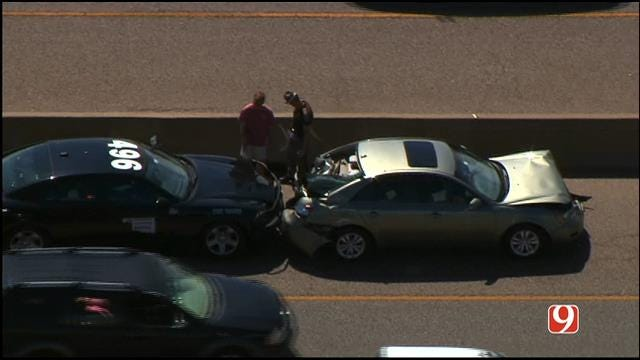 WEB EXTRA: Bob Mills SkyNews9 HD Flies Over Accident On I-35 In Moore