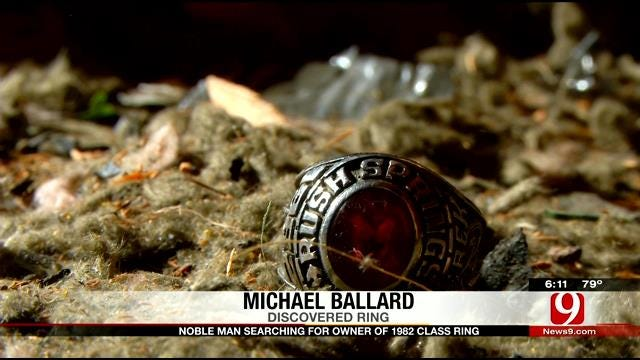 Noble Man Searching For Owner Of Lost 1982 Class Ring