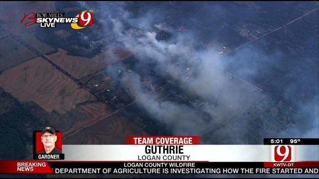 Bob Mills SkyNews 9 HD Flies Over Wildfire Aftermath In Logan County