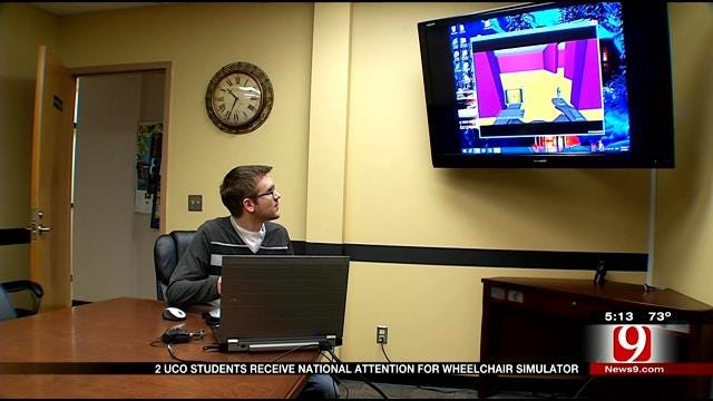 UCO Students Gain National Attention For Creating Wheelchair Simulator