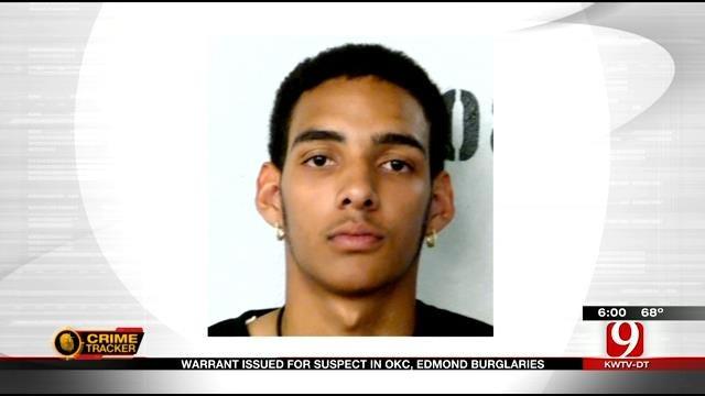 Warrant Issued For Suspect In OKC, Edmond Burglaries