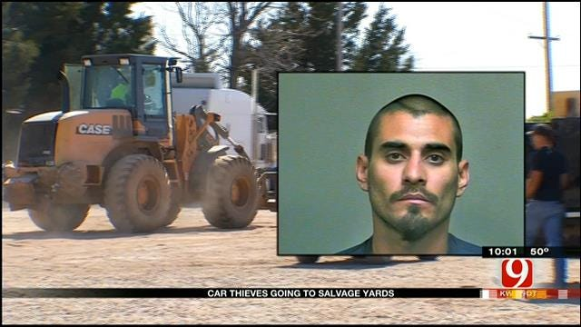 Alleged Car Thief Busted At Salvage Yard
