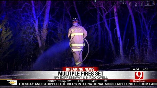 Officials: Multiple Fires In NW OKC May Have Been Intentionally Set
