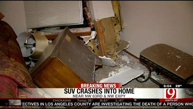 SUV Crashes Into Bedroom Of NW OKC House