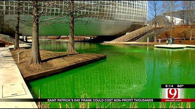 Police Investigate Green Water At Myriad Gardens