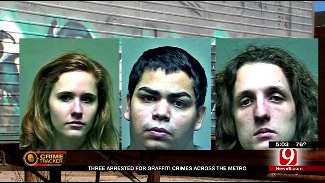 Three Arrested For Graffiti Crimes Across OKC, Surrounding Areas