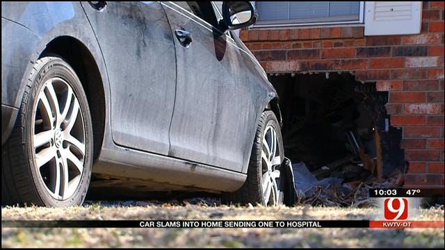 Driver Of Car That Crashed Into OKC Home Says He Fell Asleep