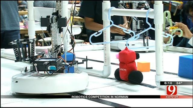 Hundred Of Okla. Students Flock To Robotics Competition In Norman