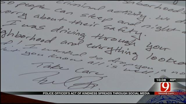 Edmond Police Officer's Act Of Kindness Spreads Across Social Media