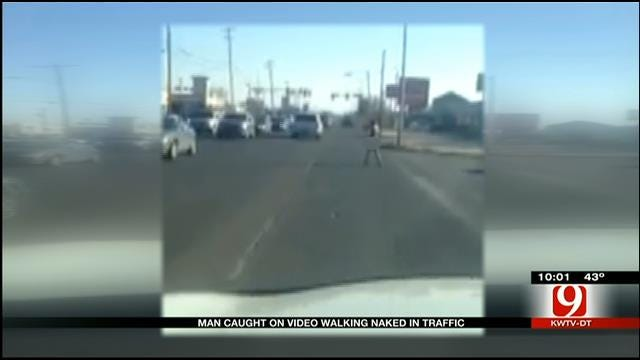 Naked Man Caught On Video Walking Down Busy OKC Street