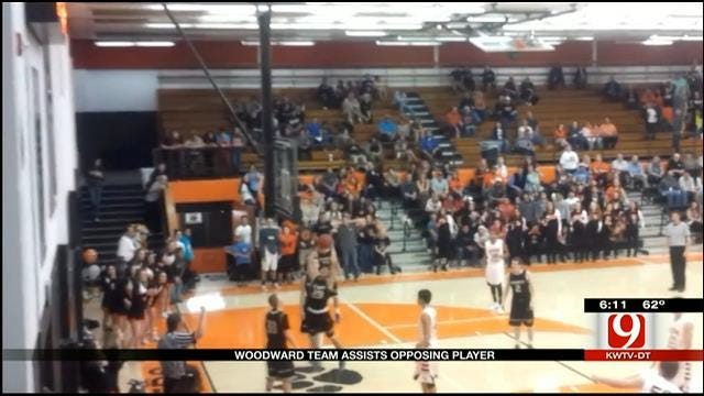 Woodward Team Assists Opposing Player