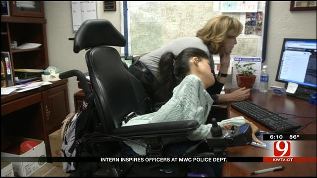 Intern Inspires Officers At MWC Police Department