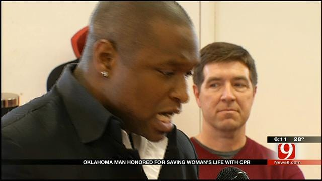 Oklahoma Man Honored For Saving Woman's Life With CPR