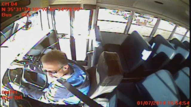 WEB EXTRA: Footage Of Driver From Inside The Bus