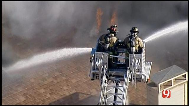 WEB EXTRA: Firefighters Battle Large Condo Fire In NW OKC